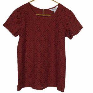 Stitch Fix Market & Spruce Red Hans Crochet Top